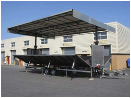2 Axle Foldable BPW Suspension Mobile Transformable Stage Semi Trailer for Commercial Campaign