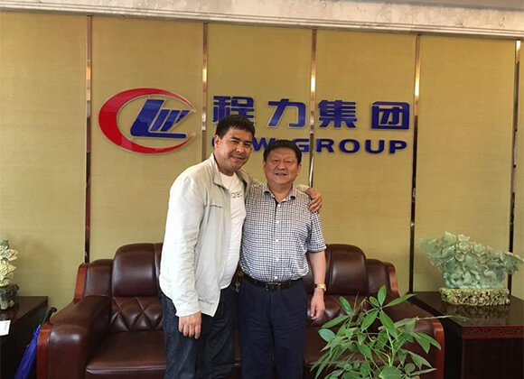 Customer from Panama met with Group CEO Mr. Cheng Daoguo