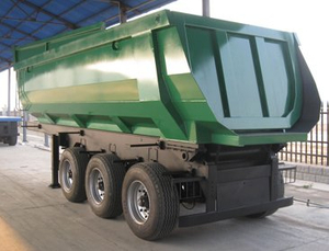 3 Axle 25CBM 60Ton U Shape Tipping Dump Tipper Semi Trailer