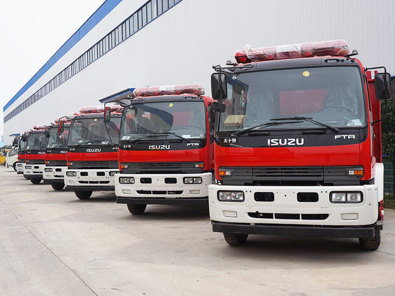 320 units Isuzu fire truck exporting to South East Asia market