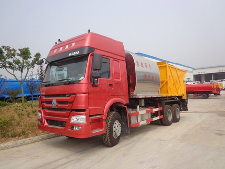 Sinotruk 10000L Intelligentized Rubber Asphalt Synchronous Chip Sealer Truck
