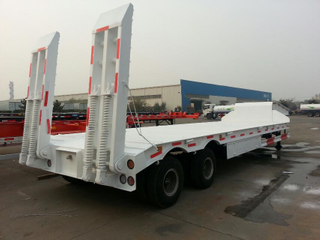 Carbon Steel 3 Axle Low Bed Semi Trailer