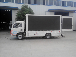 Dongfeng 4*2 95hp LHD double-sided P5 color screen LED truck
